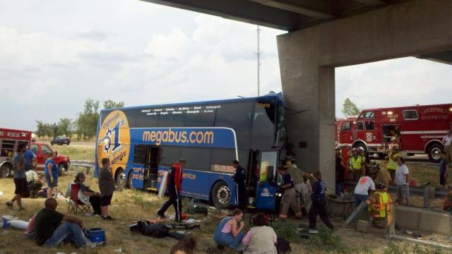 Megabus accident on downstate Interstate 55