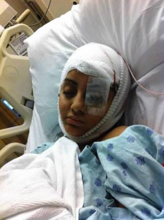 Gabriela Cedillo post surgery